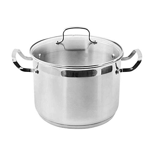 Hexiao Casseruola, Pot della minestra Binaural Acciaio Inox 304 Addensare Generale Gas Cucina Cucina a induzione 24 Centimetri (Dimensioni: 18cm) xiao1230 (Size : 18cm)