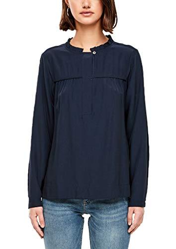 Q/S designed by - s.Oliver Damen 41.909.11.2190 Bluse, Blau (Dark Blue 5876), (Herstellergröße: 34)