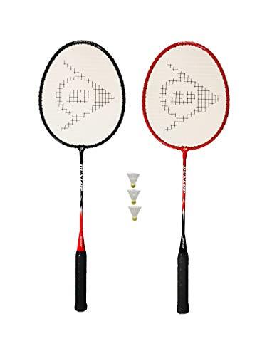 DUNLOP NanoMax Pro Badmintonschläger (2 oder 4 Set-Optionen) (1 Rot / 1 Schwarz)