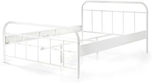 Metallbett Janek 140200cm   WeißJugendzimmer Schlafzimmer G ezimmer Kinderbett Jugendbett Jugendliege Bettliege Bettgestell Doppelbett