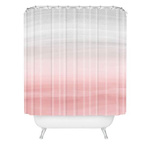 Society6 Anita Bella Jantz Blush Gray Watercolor 1 Shower Curtain, 72'x69'