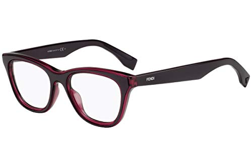 FENDI FF0197 Brillen 49-18-145 Burgund Mit Demonstrations Gläsern FF 0197