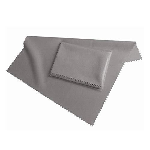Preisvergleich Produktbild HONGIRT Faser Display Reinigungstuch 19x20 cm in grau für alle Smartphones & Tablet PCs - Displaytuch Reinigungstuch - Bildschirmtuch