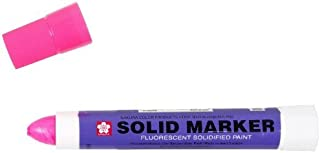 Sakura Solidified Paint Solid Marker, Fluorescent Pink (Box Of 12)