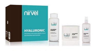 Kit de traitement rajeunissant hyaluronique pour cheveux brillants et sains