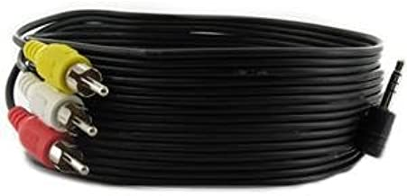 Audio/Video AV 3.5mm to 3-RCA 6ft Composite Cable for Sony Camcorder DCR-VX210