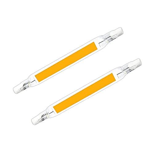 Lámpara de vidrio cerámico R7S Lámpara horizontal Luz de doble extremo ligera-Blanco cálido_L