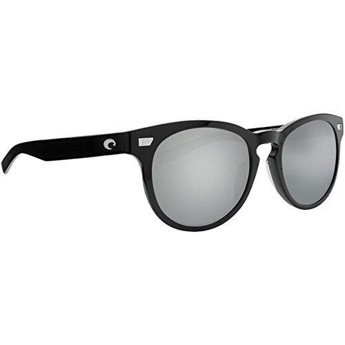 Costa Del Mar Men s Del Mar Sunglasses, Shiny Black Copper Silver Mirror-580G, 54 mm