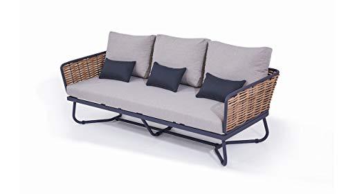 talfa Polyrattan Dreisitzer in Honig - Sofa Astra 205 cm