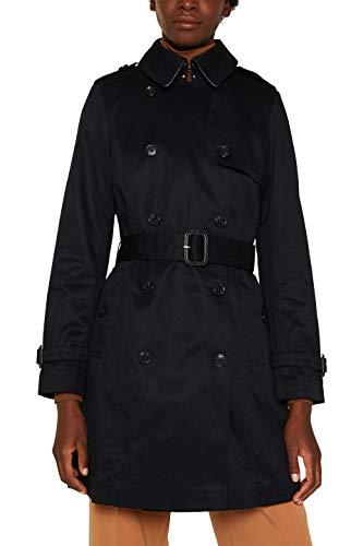 ESPRIT Collection Damen 010EO1G306 Mantel, Schwarz (Black 001), (Herstellergröße: 38)