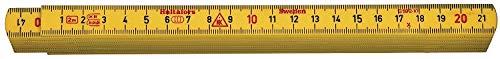 Hultafors Glasfaser Zollstock gelb G59-2-10, 200004, Wasserfester 2m Gliedermaßstab in Profiqualität