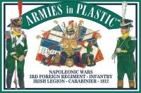 Napoleonic Wars 1812 3rd Foreign Regiment Infantry Irish Legion Carabinier (20) 1/32 Armies in Plastic by Armies in Plastic