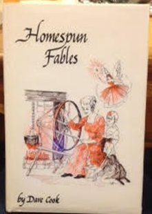 Hardcover Homespun Fables by Dave Cook stamped inscription autographed 1978 first printing hardback Book