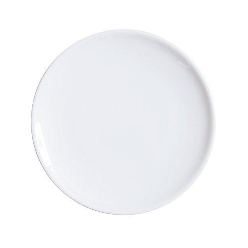 H&H 001 Siviglia Piatto Porcellana Piano, 26 cm, Bianco