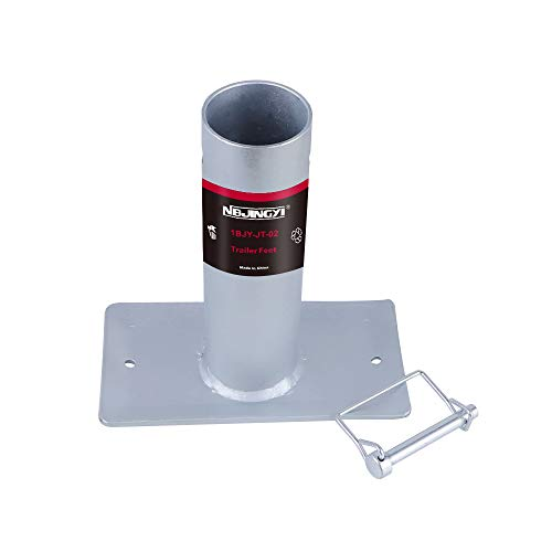 NBJINGYI Tall Trailer Jack Foot Plate 2000LBS Capacity with Pin Base for A-Frame Boat RV Camper Removable