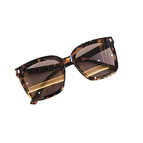 HAIGAFEW Gafas De Sol Clásicas para Mujer Verano Rosa Verde Degradado Gafas De Sol para Mujeres Hombres Gafas Cuadradas para Conducir Gafas Uv400 Proteger Los Ojos-Leopardo