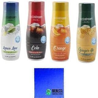 SodaStream14.8 fl Soda Flavor Kit - 4PK Variety Pack - Lemon Lime, Orange, Ginger Ale, Cola