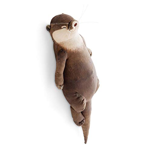 MENGLING 40 cm Otter Lindo Relleno de algodón Caja de lápiz Pad Almohada Pill Pill Almohada muñeca niños Navidad Regalos de cumpleaños Peluches Juguetes