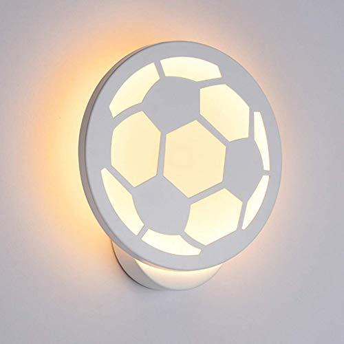 Acryl LED wandlamp wandlamp voetbal stijl woonkamer slaapkamer afval badkamer decoratie 12W AC90-260V