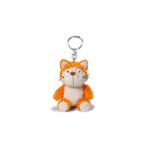 NICI 39019 Katze Plüsch Schlüsselanhänger, orange/beige