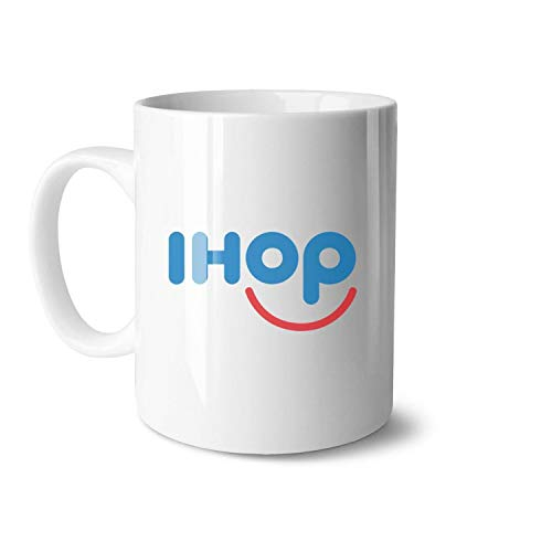 LSHOEJFVG IHOP-Restaurant-Cupcake-Food-Breakfast- White Ceramic 11 OZ Mugs Coffee or Tea Mugs Daily Use 330ML Water Tea Ceramic Cup Gifts for Friends One Size