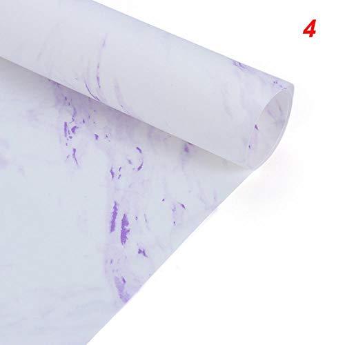 1 stks/pak marmer patroon inpakpapier plakboek verjaardagscadeau boeket inpakpapier decoratieve handgemaakte diy art ambachten, 4