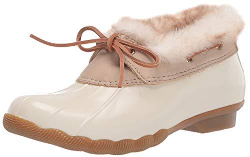 Sperry Women's Saltwater 1-Eye Rain Boot, IVORY, 6.5