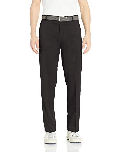 Amazon Essentials Men's Standard Classic-Fit Stretch Golf Pant, Black, 42W x 32L