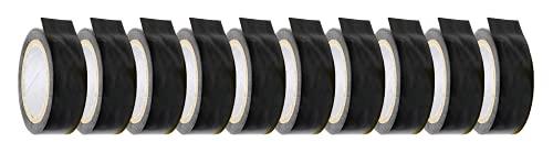 10er Set Isolierband 15 mm x 10 m schwarz