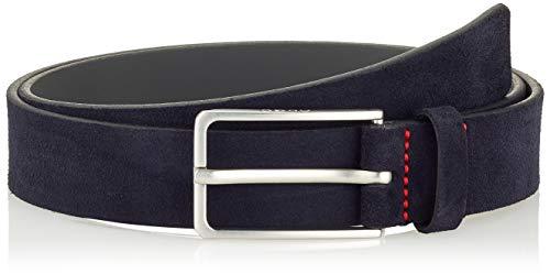 HUGO Golia-O-SD_Sz30 Cinturón, Azul oscuro (401), 85 cm para Hombre