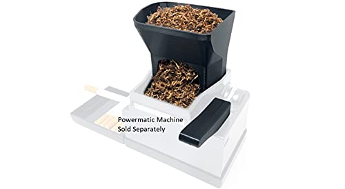 Ergo 3D Tobacco Hopper and EZ Handle Accessory for Powermatic 2 and 2+ Electric Cigarette Rolling Machine Injector for Hand Rolled Smokes (Powermatic Machine Sold Separately!)