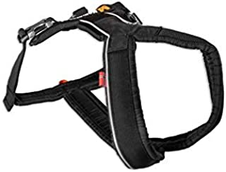 Non-stop dogwear Line Harness, Padded/Adjustable, Size 7, Black, for Dogs, 1 Pack