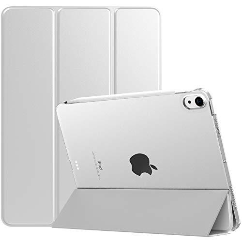 TiMOVO Hülle Kompatibel mit iPad Air 4. Generation 10.9 Zoll 2020, Schutzhülle mit Transluzent Rückseite Auto Schlaf/Aufwach Smart Hülle Ständer Kompatibel mit iPad 10.9 Zoll Tablet, Silber