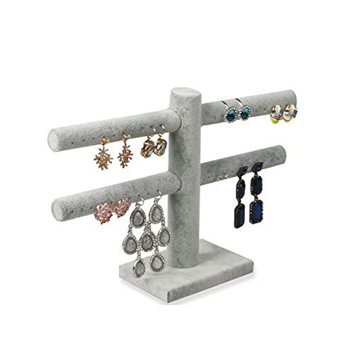 linger 24 Grids Velvet Jewelry Box Anillos Pendientes Collares Maquillaje Holder Estuche Organizador Mujeres Joyería Almacenamiento 20 * 15 * 4,5 cm (Color : Gray)
