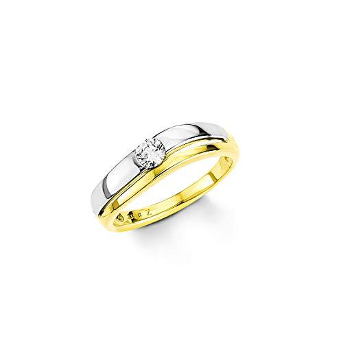 Amor 174671 - Anillo de oro amarillo con circonita, talla 14