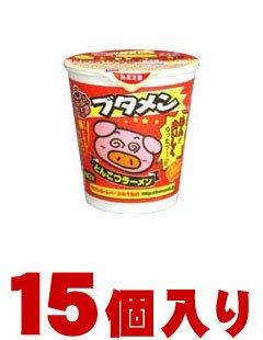 おやつカンパニー ブタメンとんこつラーメンカップ×15個入(1ケース納品)