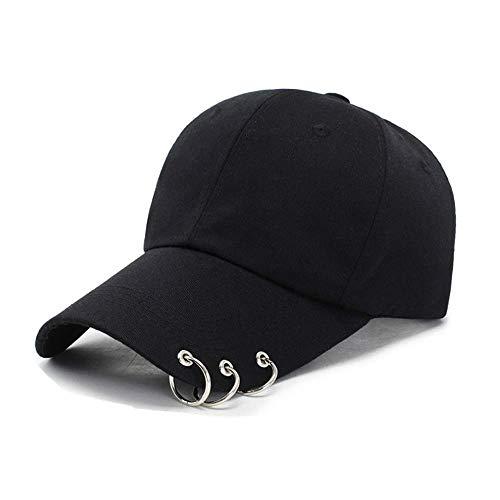 VIVICMW Tour with Iron Rings Hats Love Yourself Snapback Baseball Pierced Visor Tail Mens Ball Cap (Black)