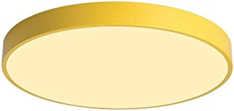 Nordic Beleuchtung Deckenleuchten, warme romantische junge Mdchen LED Eisen Acryl Kronleuchter Mode ultradünne Wohnzimmer Schlafzimmer Kinder Pendelleuchte (Farbe   Gelb-Stufenloses Dimmen-30cm)