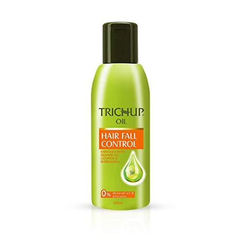 Trichup - Aceite para el cabello con control de caídas (amla, regaliz y bhringaraj) enriquecido, reparando y nutriendo el cabello dañado (200 ml)