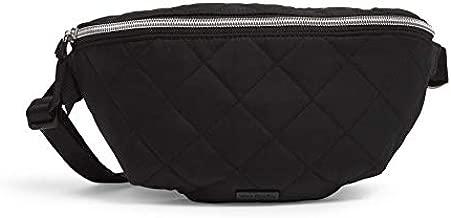 Vera Bradley Women's Performance Twill Convertible Crossbody Belt Bag with RFID Protection, Black
