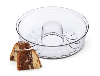 "Simax Clear Glass Shallow (4.75"") Bundt Pan 