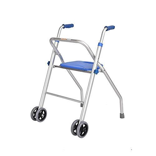 LXDDJZXQ Walker, caminador Flotante, Marco de Caminata bariátrico Resistente para Personas Mayores con 2 Ruedas y Asas de plástico Duradero para Ayuda a la Movilidad para Handicap Ligero ⭐