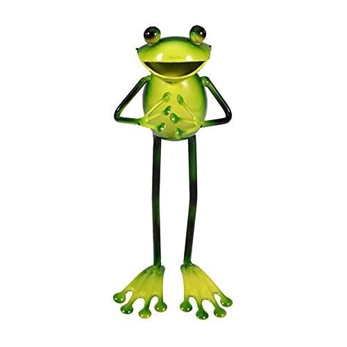 Estatua de tortuga para jardín, dulce rana, tortuga, tortuga, con luces LED solares para decoración de interior y exterior, decoración de patio y patio