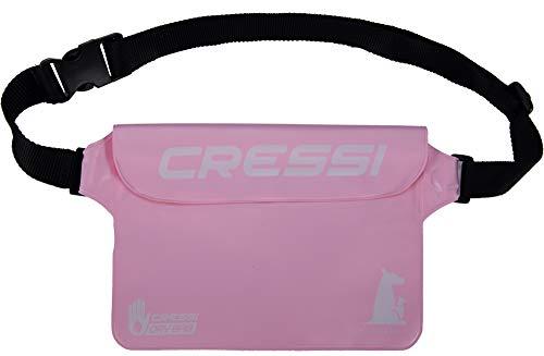 Cressi Unisex-Erwachsene Kangaroo Dry Pouch Wasserdichter Beutel, Hellrosa, One Size