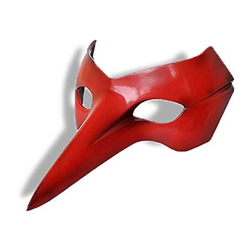 Coslive Halloween Party Maske P5 Persona 5 Held Goro Akechi Krähenmaske Cosplay Comic Rot FRP