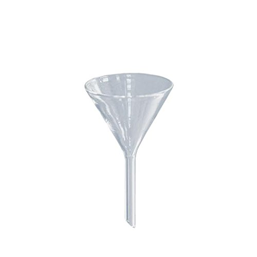 1 x Glastrichter Ø 45mm - Borosilikat 3.3-60° Winkel - Glas-Trichter - Trichter aus Glas - Labortrichter