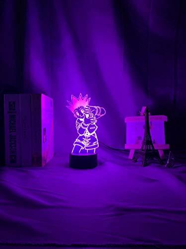 3D night light Kids Night Light Gon Freecss Figure Led Battery Powered Nightlight for Child Bedroom Decor 3d Lamp Anime Hunter X Hunter Gift Birthday gifts for children