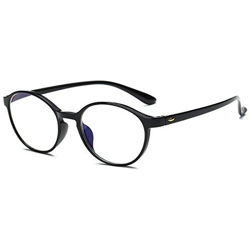 VEVESMUNDO® Lesebrillen Damen Herren Spring Scharnier Augenoptik Flexibel Brille Lesehilfe Sehhilfe ArbeitsplatzbrilleVollrandbrille Schwarz Braun Schildpatt brille (SCHWARZ, 2.0)