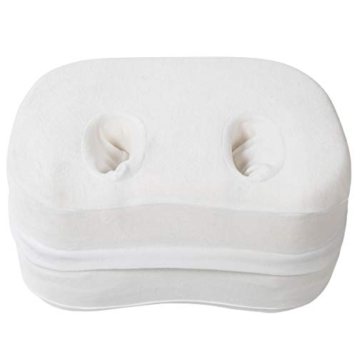 Milliard Ear Pillow for Sleeping with Holes for Ear Pain and CNH, Adjustable Memory Foam Ear Guard Pillow