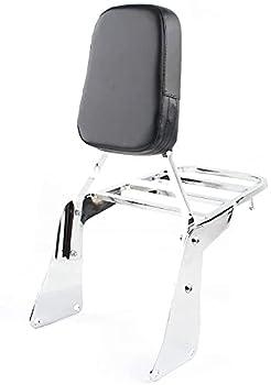 Newest Backrest Sissy Bar + Luggage Rack Leather Pad For Kawasaki Vulcan 1500 VN1500